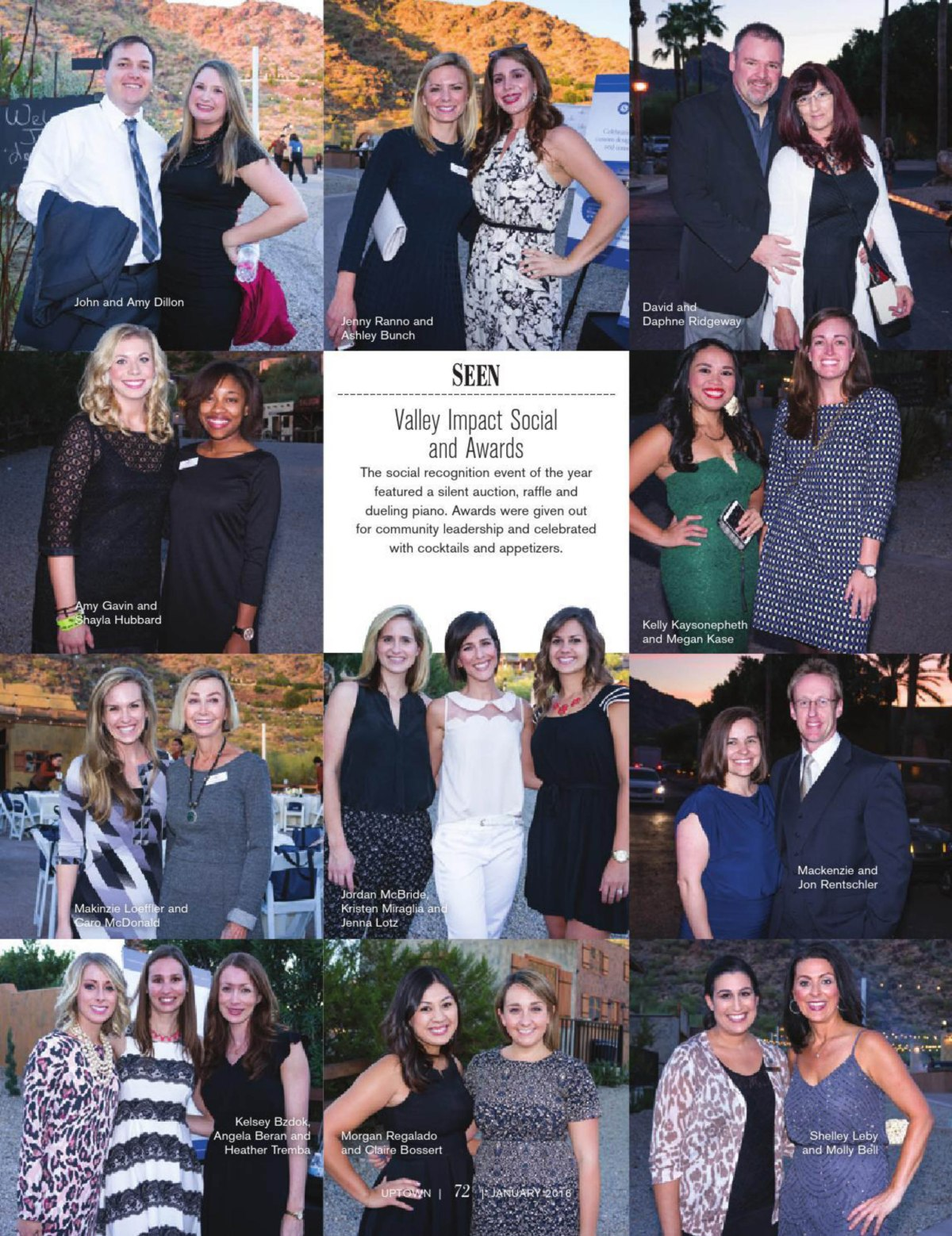 Uptown Magazine - Valley Impact Social Jan page