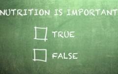 nutrition true false